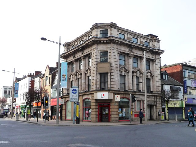 Ornate building, junction of Albert and Corporation Roads
