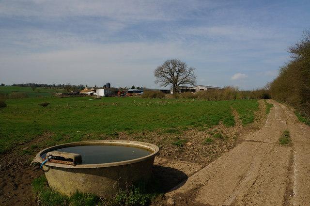 Postern Lodge farm and trough