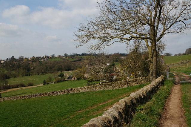 On a track by Hazelwood Hall Farm