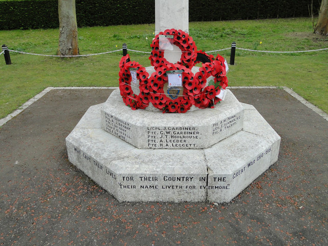 The War Memorial at Scole (detail)