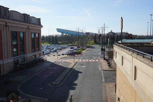 Service road at the Trafford Centre
