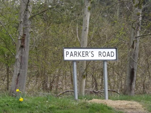 Parker's Road sign