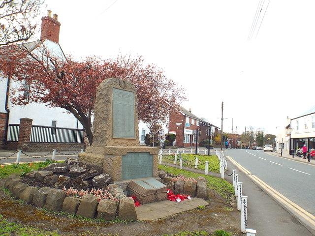 War memorial, Cleadon