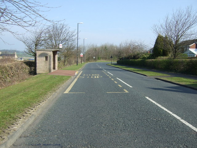 Bus stop and shelter on North Walbottle Road