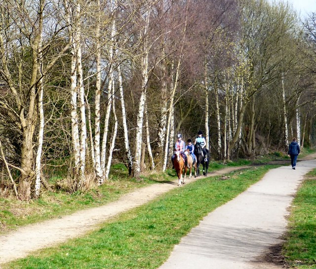 Riders on the Trans Pennine Trail
