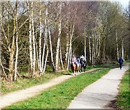 SJ9594 : Riders on the Trans Pennine Trail by Gerald England