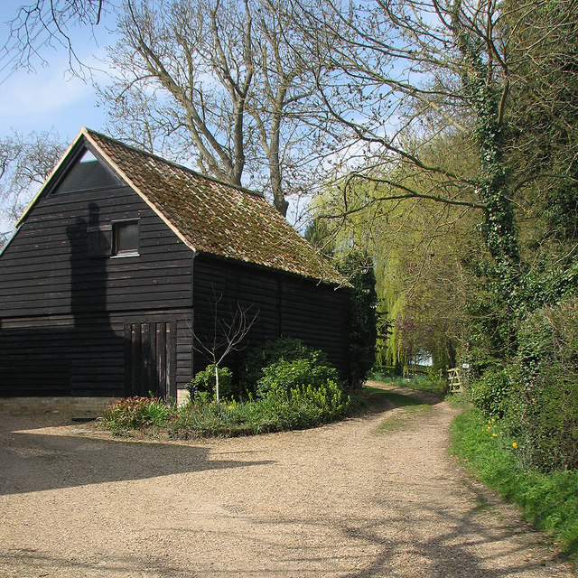 Grantchester: the start of a footpath