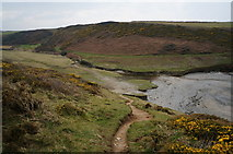 SW8471 : South West coast path at Porth Mear by Ian S