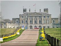 TM1938 : Woolverstone Hall - Ipswich High School for girls by Adrian S Pye