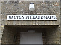TM0567 : Bacton Village Hall sign by Adrian Cable