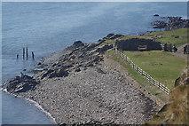 NU1341 : Looking down from Lindisfarne Castle by Stephen McKay