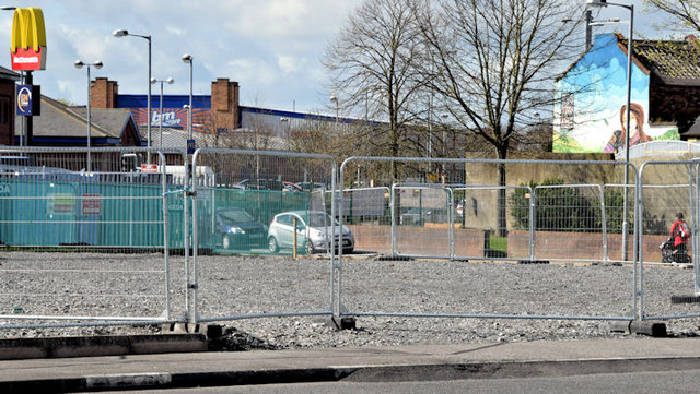 Connswater Greenway landscaping, Belfast (April 2015)
