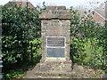 TQ9340 : Commemorative Stone in Bethersden, Kent by David Hillas