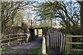SJ8050 : Former railway bridge over farm track by Jonathan Hutchins