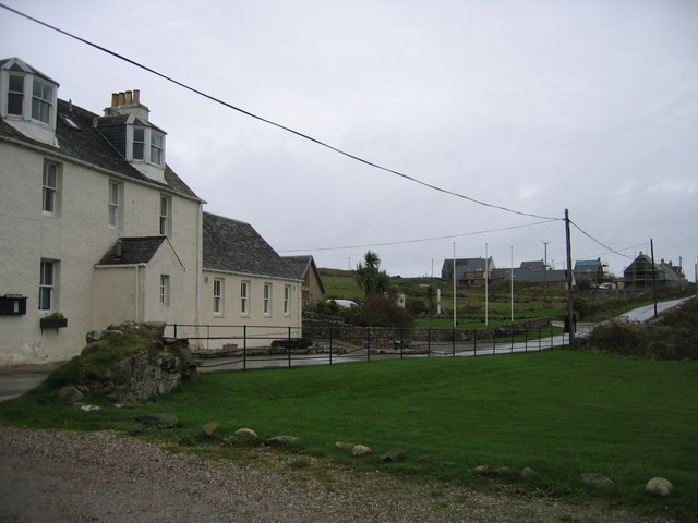 The Gigha Hotel, and Ardminish beyond