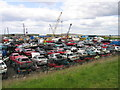 TQ5378 : Car graveyard near Crayford Ness by A Marston