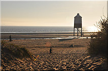 ST3050 : Burnham-on-Sea : Sandy Beach by Lewis Clarke