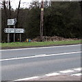 SO6215 : Directions and distances signs, Brierley by Jaggery