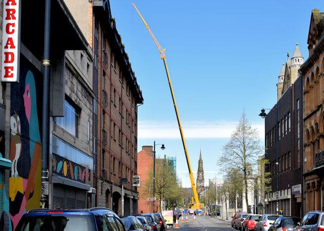 Crane, Donegall Street, Belfast (April 2015)