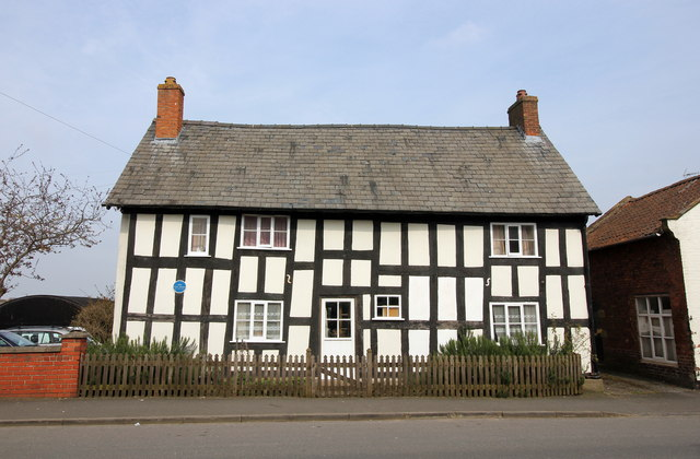 Timbered framed building in Malpas