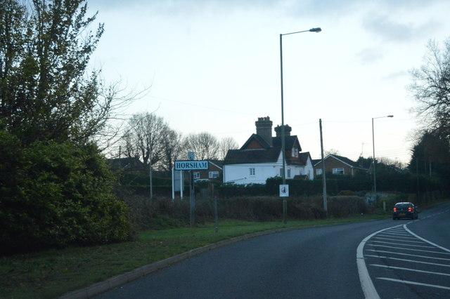 Entering Horsham