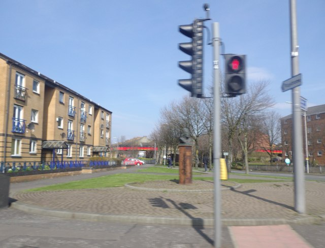 Junction of Glasgow Road (A814) with Argyll Road