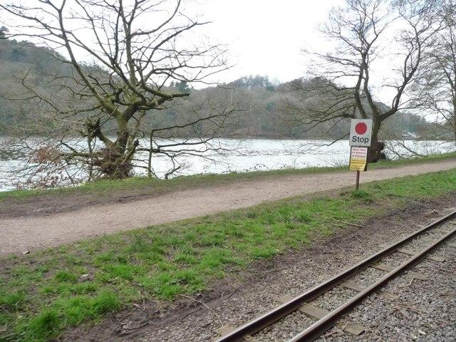 Rudyard Lake Steam Railway stop sign