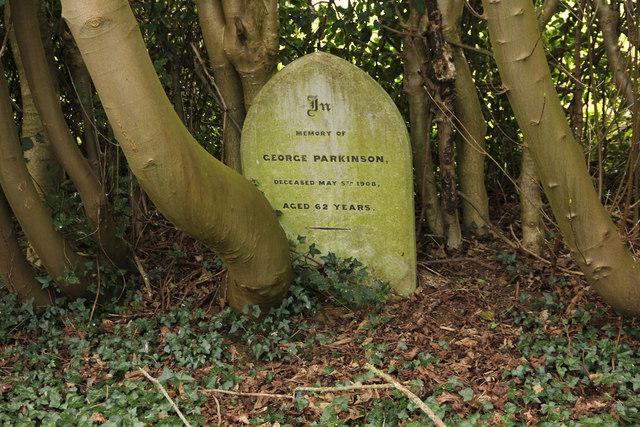 Headstone in Rauceby Hospital burial ground