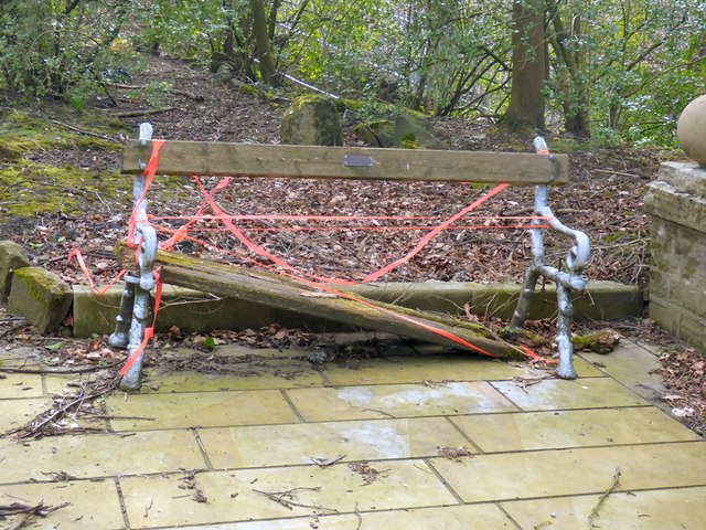Bench at Godley Hill War Memorial