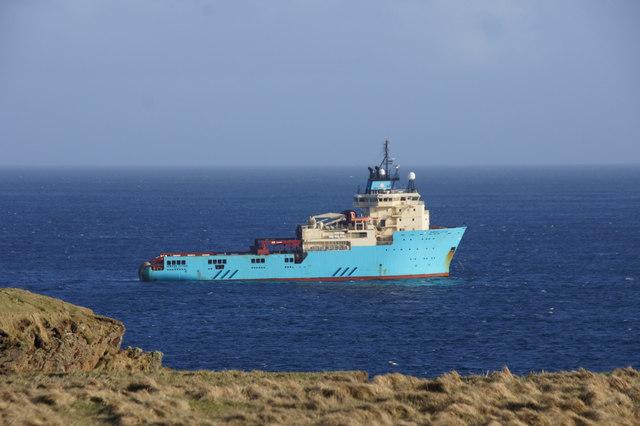 Maersk Lifter off Lamba Ness