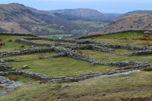 View over Hardknott Roman Fort