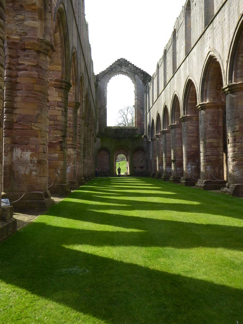 The nave of the church at Fountains Abbey