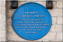 SZ1191 : Bournemouth Blue Plaques: No. 1 - Sir Percy Florence Shelley by Mike Searle