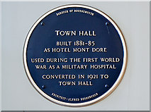 SZ0891 : Bournemouth Blue Plaques: No. 3 - Bournemouth Town Hall by Mike Searle