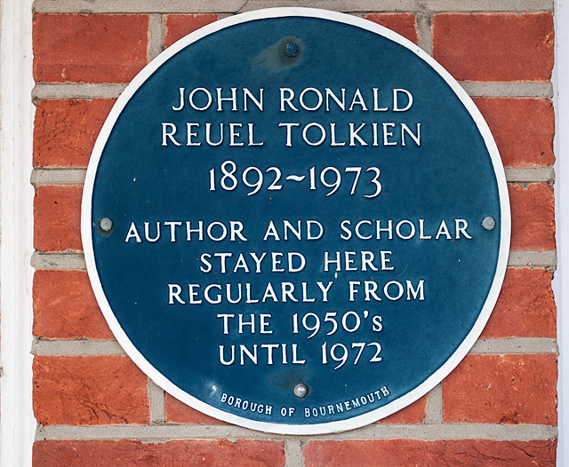 Bournemouth Blue Plaques: No. 11 - J R R Tolkien