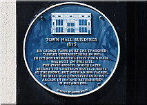 SZ0891 : Bournemouth Blue Plaques: No. 17 - former Town Hall Buildings and Criterion Arcade by Mike Searle