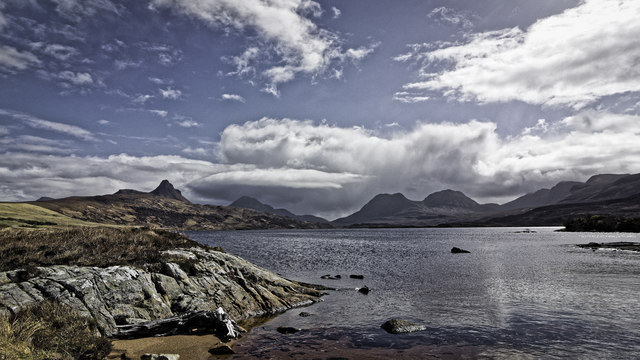 Shore of Loch Bad a' Ghaill