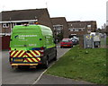 SU1385 : SSE Power Distribution van and electricity substation, Manton Street, Swindon by Jaggery
