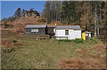 NM4627 : Bothies at Scobull by Robert Struthers