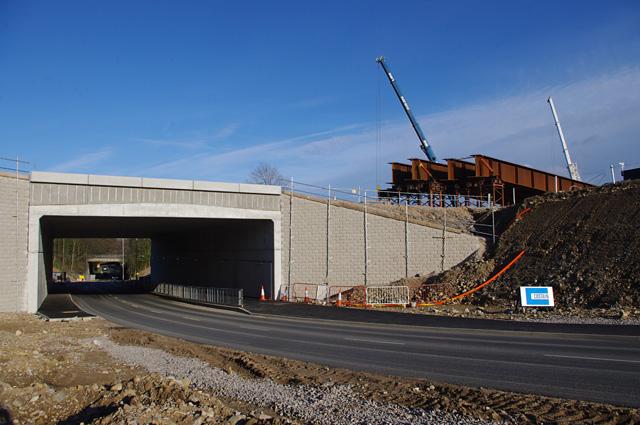 Shefferlands Bridge under construction