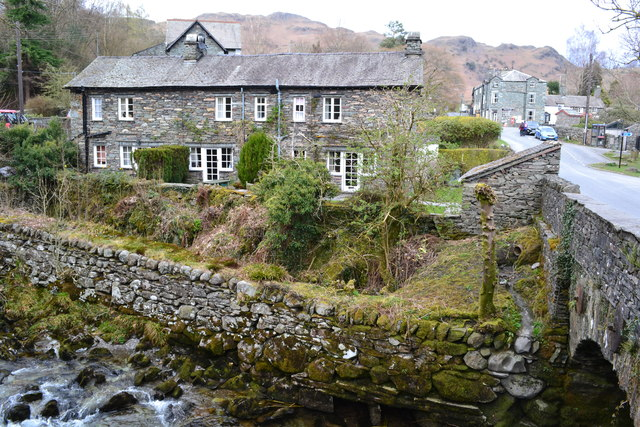 Houses by the bridge at Elterwater