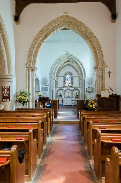 Interior, St Andrew's church, Bishopstone