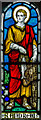 TQ4700 : Stained glass window, St Andrew's church, Bishopstone by Julian P Guffogg