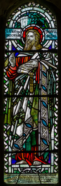 Stained glass window, St Andrew's church, Bishopstone