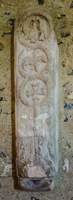 Coffin Slab, St Andrew's church, Bishopstone