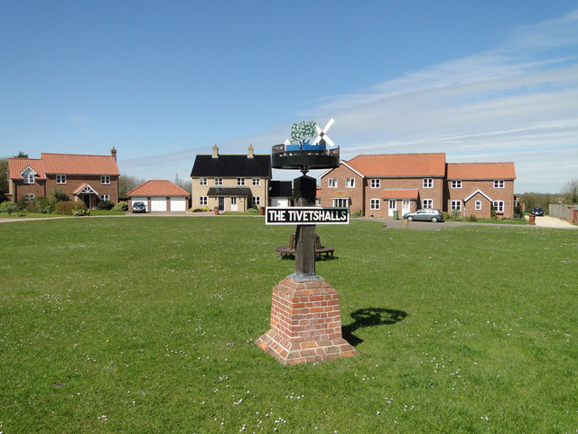 Village sign for The Tivetshalls