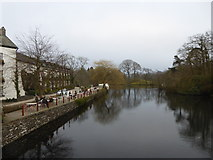 SD3686 : The River Leven at Newby Bridge by Rod Allday