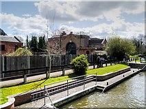 SU9777 : Romney Lock and Waterworks by David Dixon