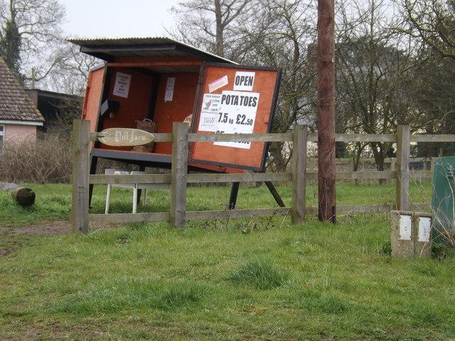 Farm stall at Tot Hill Farm