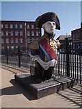 SU6200 : Lord Nelson statue, Historic Dockyard, Portsmouth by Robin Sones